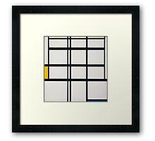 Piet Mondrian, Dutch, Title Composition in Y Framed Print