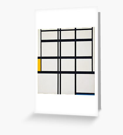 Piet Mondrian, Dutch, Title Composition in Y Greeting Card