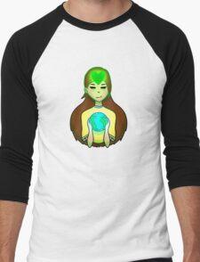 Mother Earth Green Heart Men's Baseball ¾ T-Shirt