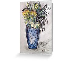 Blue Vase Greeting Card