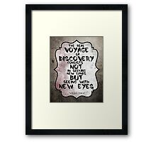 Marcel Proust famous quote about voyage Framed Print