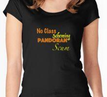 No Class Scheming Pandoran Scum Women's Fitted Scoop T-Shirt