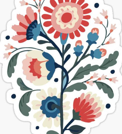 modern flower design Sticker
