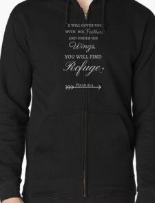 God's Refuge Psalm 91:4 T-Shirt