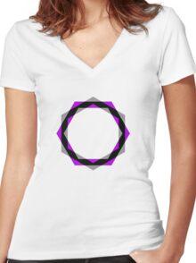 Round, Round PB... Women's Fitted V-Neck T-Shirt