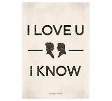 Star Wars - I Love You, I Know (Black) Photographic Print