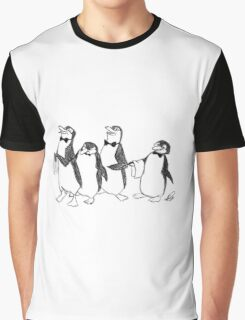 Penguins From Mary Poppins Sketch Graphic T-Shirt