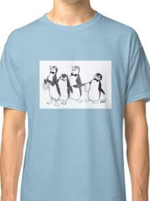 Penguins From Mary Poppins Sketch Classic T-Shirt