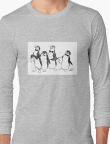 Penguins From Mary Poppins Sketch Long Sleeve T-Shirt