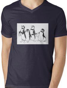 Penguins From Mary Poppins Sketch Mens V-Neck T-Shirt