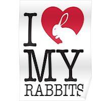 I love my rabbits Poster