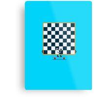Character Building - Chessboarder Metal Print