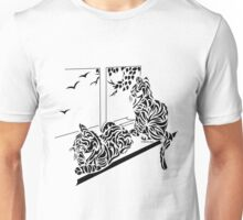 Kluane & Kajika - Abstract, Tribal Kittens Cat Art Print Unisex T-Shirt