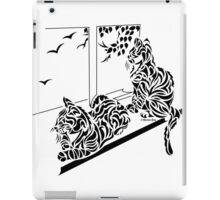 Kluane & Kajika - Abstract, Tribal Kittens Cat Art Print iPad Case/Skin