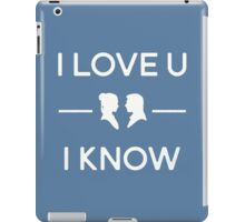 Star Wars - I Love You, I Know (color) iPad Case/Skin