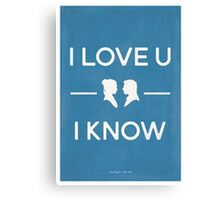 Star Wars - I Love You, I Know (color) Canvas Print