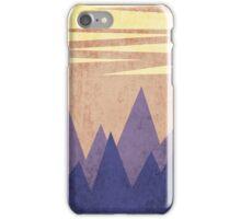 minimalist mountain on sunset background iPhone Case/Skin