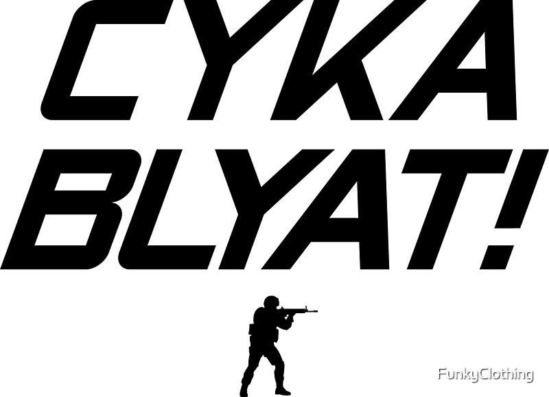 """CS:GO Cyka Blyat! Black"" Stickers by FunkyClothing ..."