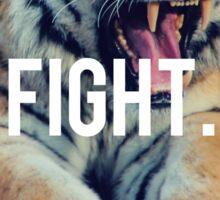 Tiger Motivation Fight Cut Sticker