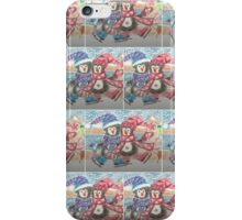 Two ice skating penguins pattern iPhone Case/Skin