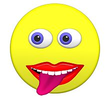 Smiley With Tongue Out Photographic Print