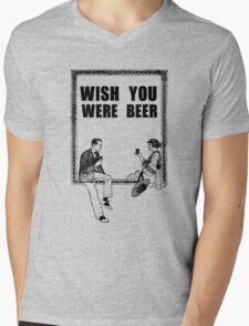 Awesome Drunk Party Time Beer Vintage Mens V-Neck T-Shirt