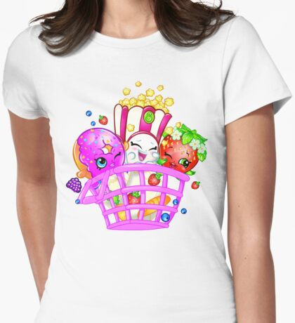 Shopkins basket 2 Womens Fitted T-Shirt