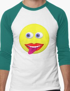 Smiley With Tongue Out Men's Baseball ¾ T-Shirt