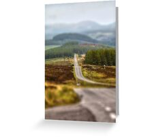 Hilly Road Greeting Card
