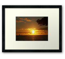 Sky Fire Framed Print