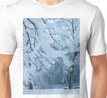 Frozen Winter Trees Unisex T-Shirt
