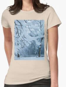 Frozen Winter Trees Womens Fitted T-Shirt