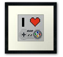I Love Snes pixel Framed Print