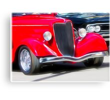 Vintage Red Car Canvas Print