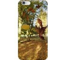 Falling Leaves in Autumn iPhone Case/Skin