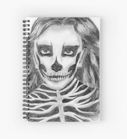 Halloween girl Spiral Notebook