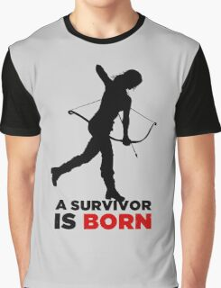 A Survivor is Born [black] Graphic T-Shirt