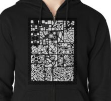 Abstracting the City Zipped Hoodie