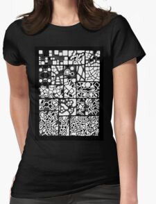 Abstracting the City Womens Fitted T-Shirt