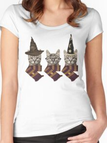 Potter cats Women's Fitted Scoop T-Shirt