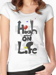 HIGH ON LIFE (Straight Edge Version) Women's Fitted Scoop T-Shirt