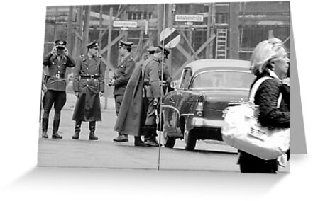 Berlin - Check point. by Jean-Luc Rollier
