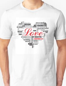 Love typography T-Shirt