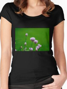 Macro Chive Blossoms 1 Women's Fitted Scoop T-Shirt