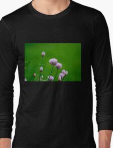 Macro Chive Blossoms 1 Long Sleeve T-Shirt