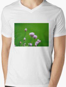 Macro Chive Blossoms 1 Mens V-Neck T-Shirt