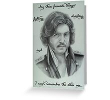 Fedya Dolokhov Portrait with Quote Greeting Card