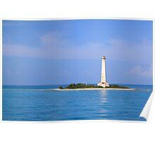 Lighthouse at Cay Lobos, Bahamas Poster