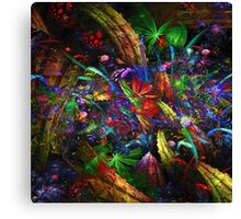Night in a alien forest Canvas Print