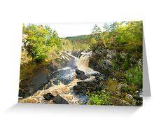 Rogie Falls at Blackwater River, Scotland Greeting Card